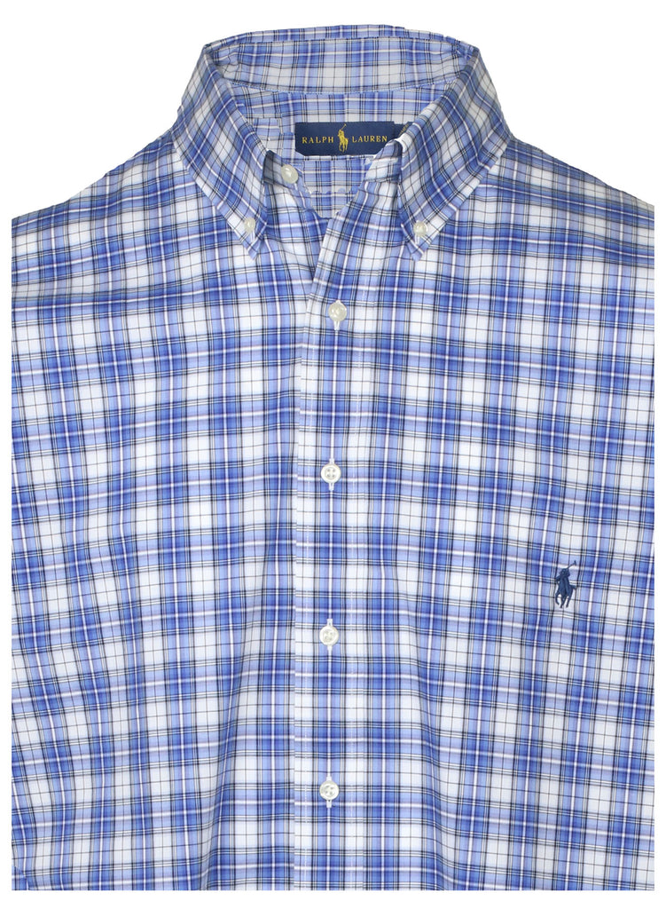 Polo Ralph Lauren Men's Big & Tall Woven Stretch Plaid Shirt-Blue