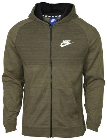 Nike Men's Advance Full Zip Sportswear Hoodie-Medium Olive