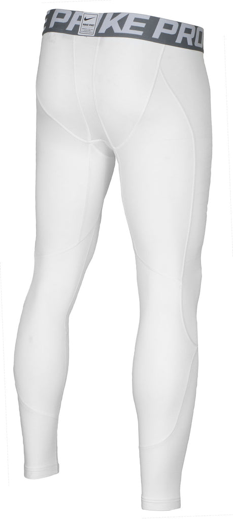 Nike Men's Pro Hyperwarm Training Tights-White