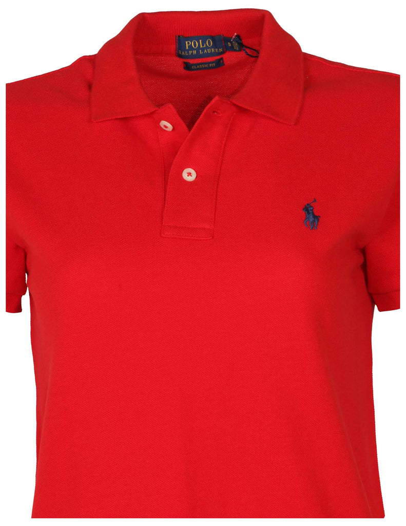 Polo Ralph Lauren Women's Classic Fit Mesh Pony Shirt-Red