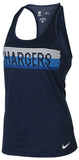 Nike Women's Dri-Fit Los Angeles Chargers Team Apparel Tank Top-Navy