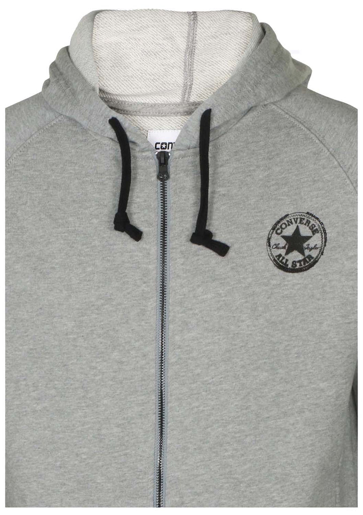 Converse Men's All Star Core Plus Two Way Full Zip Hoodie-Heather Grey