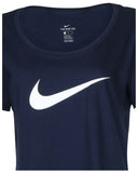 Nike Women's Swoosh Logo Scoop Neck T-Shirt