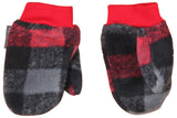 Columbia Toddler Fireside Cuddle Fleece Beanie & Mitten Set-Red/Black
