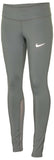 Nike Women's Dri-Fit Power Epic Running Tights-Tumbled Grey