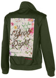True Religion Women's Yeah Right Utility Jacket-Militant Green