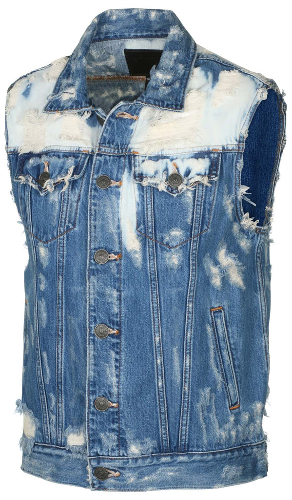 True Religion Men's Danny Renegade Vest Single End-Baja Racer