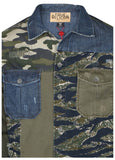 True Religion Men's Patched Utility Shirt-Mix Territory
