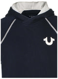 True Religion Men's Short Sleeve Pullover Hoodie-Ace Blue