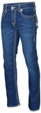 True Religion Men's Straight Flap Natural Super T Jeans