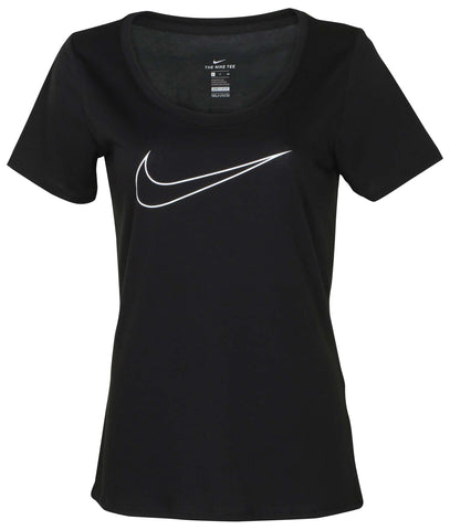 Nike Women's Dri-Fit Just Do It Graphic Scoop Tee-Black