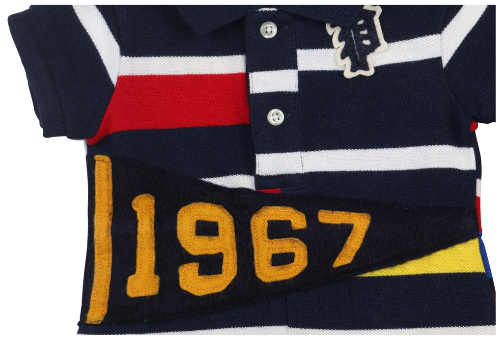 57e237a51 French Navy; Polo Ralph Lauren Infant Boys' (3M-24M)1967 Striped Shirt- French ...