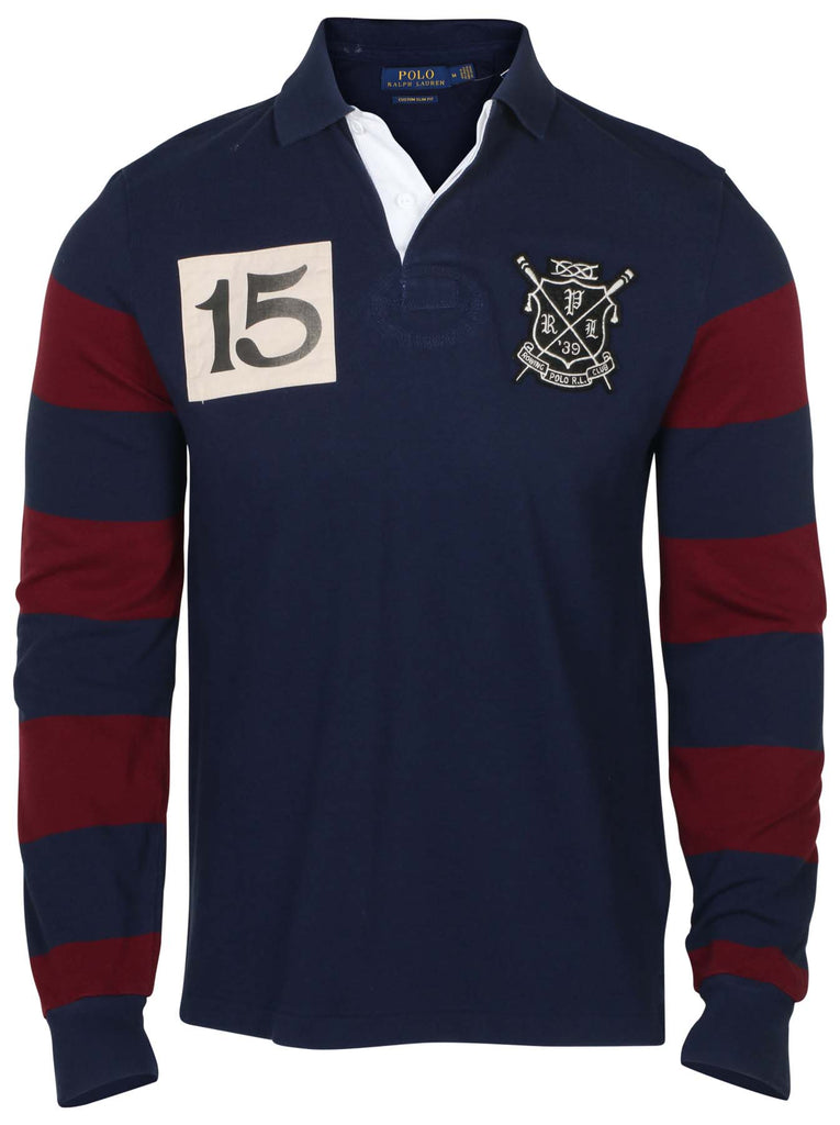 c7c791dfeb Polo RL Men's Custom Slim Fit LS Rugby Shirt – Webzom