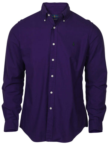 Polo Ralph Lauren Men's Classic Fit LS Oxford Shirt-Purple