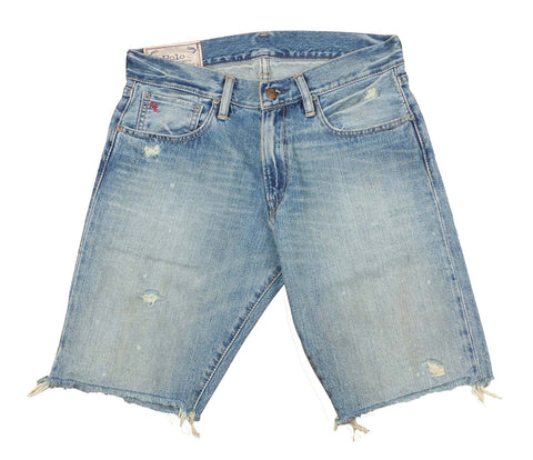 Polo RL Men's Distressed Slim Fit Denim Shorts-Ashford