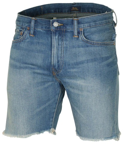 Polo RL Men's Sullivan Slim Denim Shorts-Blue Denim
