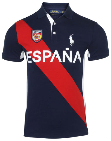 Polo Ralph Lauren Men's Custom Slim Fit Espana Shirt-Navy Multi Espana