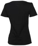 Nike Women's Swoosh Logo Scoop Tee-Black