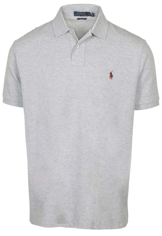 Polo RL Men's Custom Fit Mesh Polo Shirt-Andover Heather
