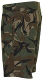 Polo RL Men's Casual Camo Fleece Shorts-Camo Black