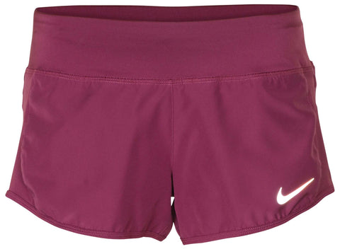 Nike Women's Dri-Fit Crew Running Shorts-Plum