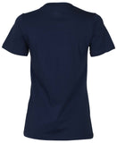 Converse Women's Spliced All Star Leopard Logo Tee-Navy
