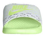 Nike Women's Benassi JDO Print Slide Sandals-White/Barely Volt