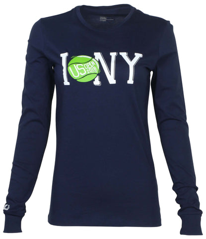 Polo RL Women's Tennis US Open 2018 NY Tee-Navy