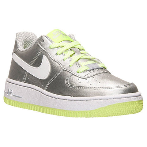 Nike Youth Air Force 1 (GS) Sneakers-Metallic Silver/Volt