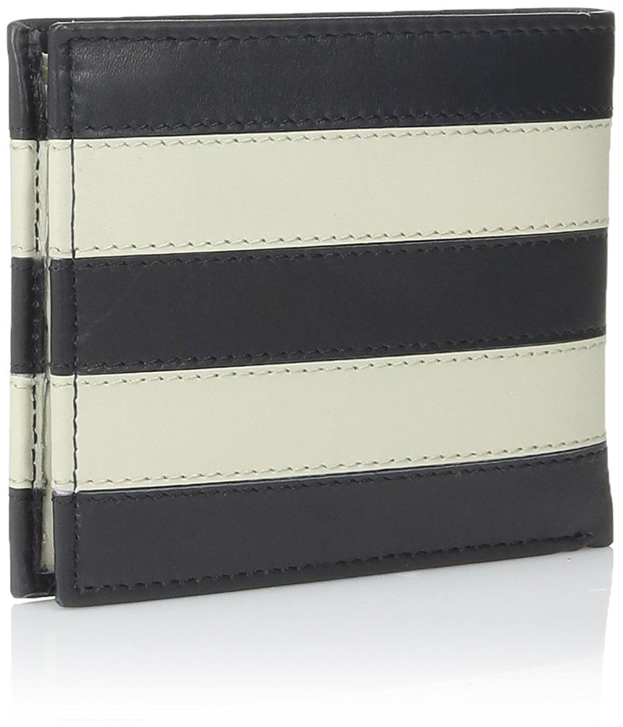Tommy Hilfiger Passcase and Valet Bifold Wallet-Navy/Bone