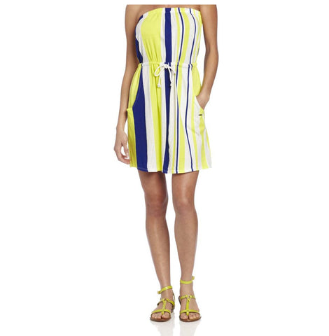 Roxy Juniors' Fairest Light Tube Dress-Yellow/Multi