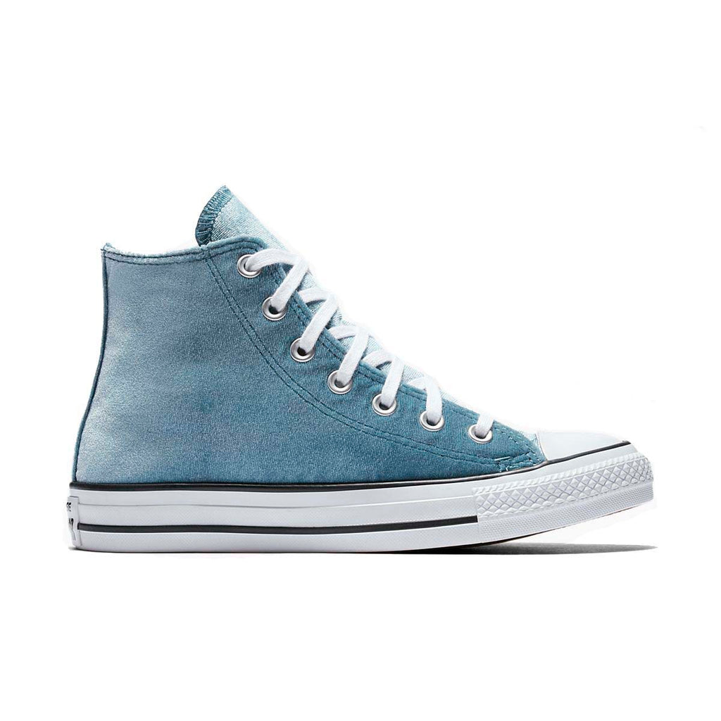 Converse Women's Velvet Chuck Taylor All Star Velvet High Top Sneakers-Teal/White