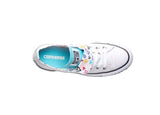 Converse Women's Chuck Taylor All Star Double Tongue Heart Shoes-White/Bleached Aqua