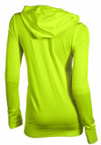 Nike Women's Dri-Fit Knit Full Zip Training Hoodie-Volt