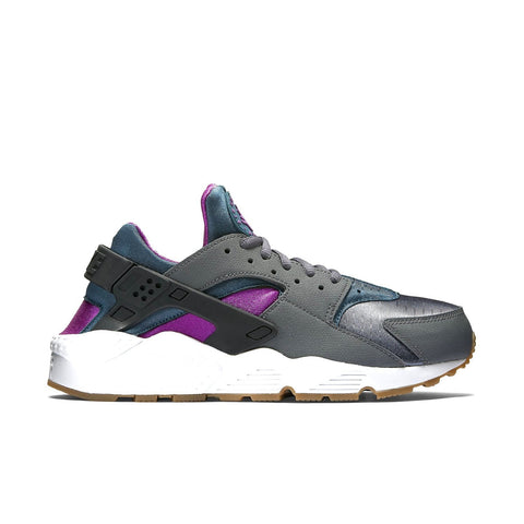Nike Women's Air Huarache Run Running Shoe-Dark Grey/Teal/Violet