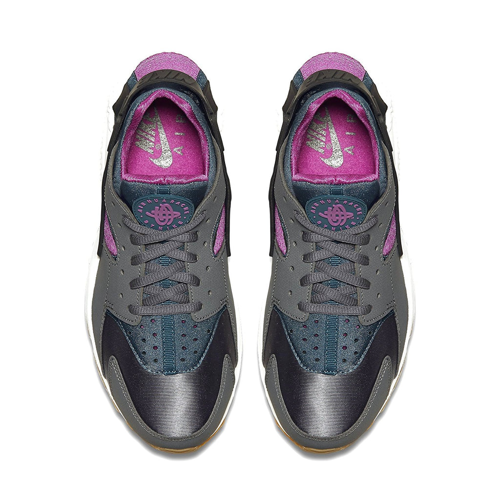 1c55a386293e ... Nike Women s Air Huarache Run Running Shoe-Dark Grey Teal Violet ...