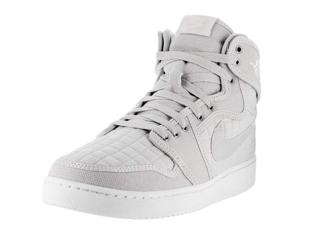 Jordan Men's AJ1 KO High OG Basketball Shoes-Pure Plantinum/White