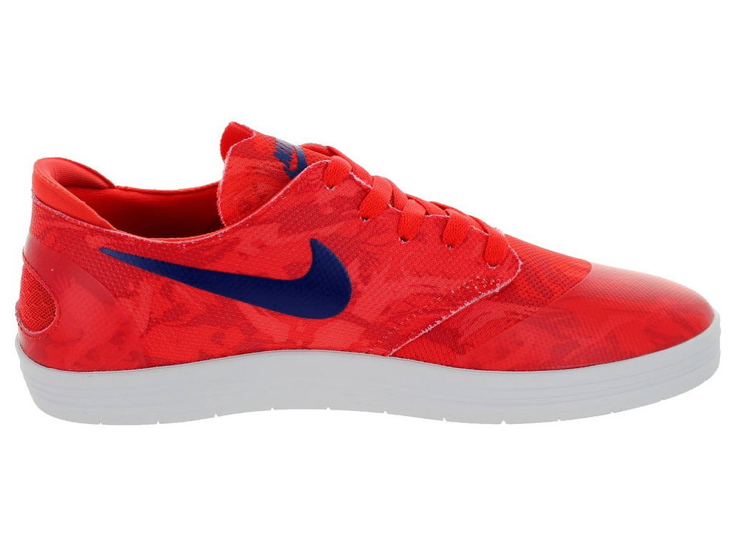 Nike Men's Lunar Oneshot SB Skating Shoe-Lt Crimson/Deep Royal