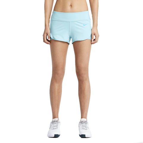 Nike Women's Dri-Fit Ace Court Tennis Shorts-Light Blue