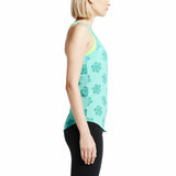 Nike Women's Run Floral Running Tank Top-Teal