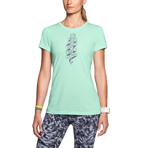 Nike Women's Dri-Fit Hungry Taste Victory Running Shirt-Light Mint