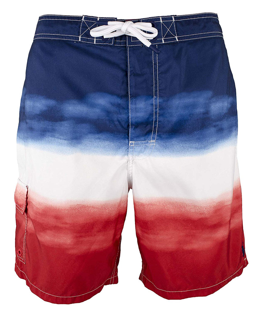 6e6ed68f2efa3 ... Polo Ralph Lauren Men's Big & Tall Kailua Ombre Swim Trunks-RWB Ombre.  RWB Ombre ...