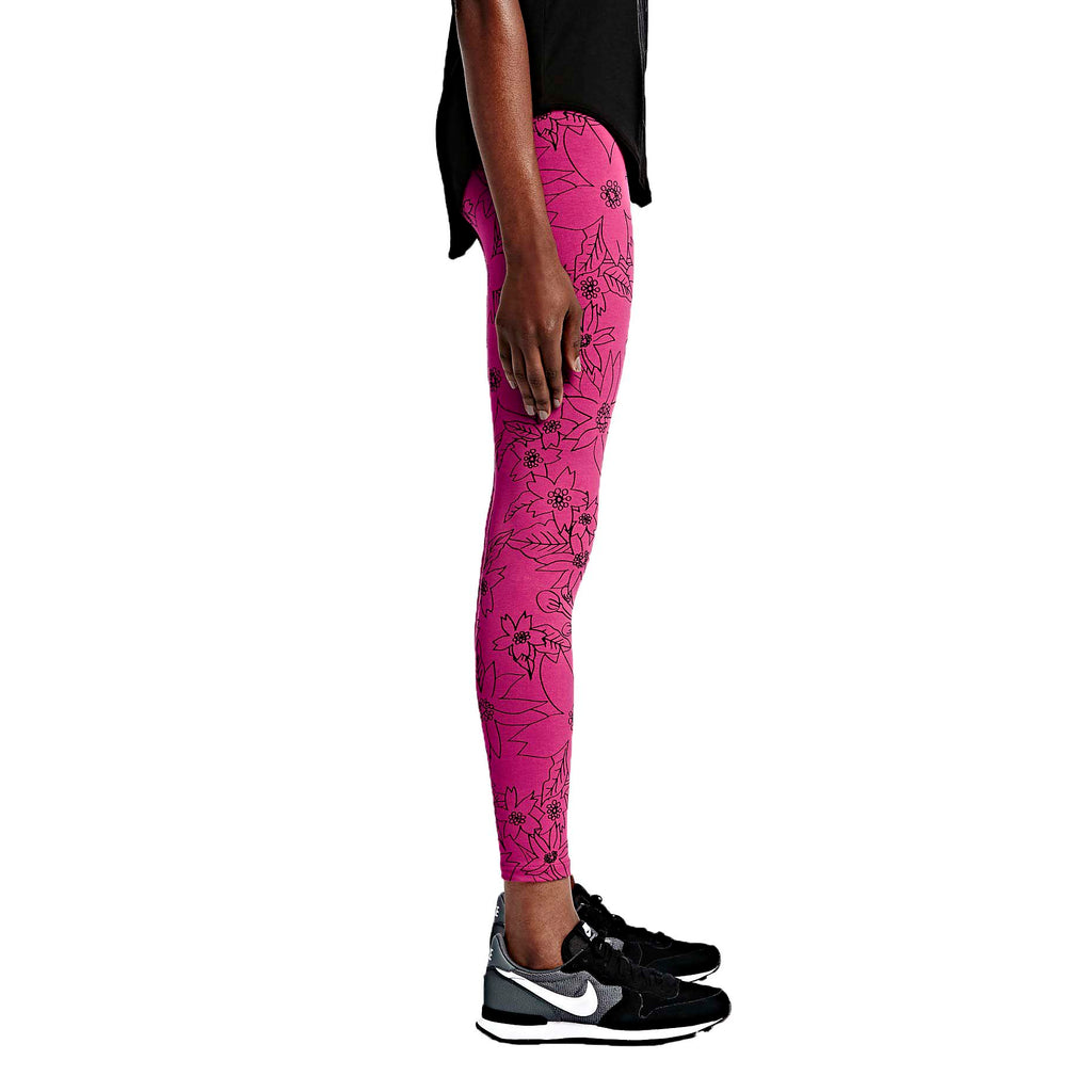 Nike Women's Leg A See Hawaiian 2 Tights-Fuchsia/Black