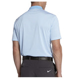 Nike Men's Dri-Fit Mini Stripe Swoosh Golf Polo Shirt