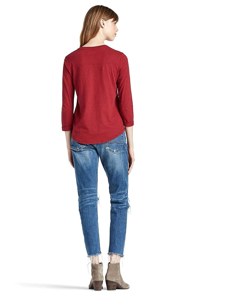 Lucky Brand Jeans Women's Norton World Champ T-Shirt-Red