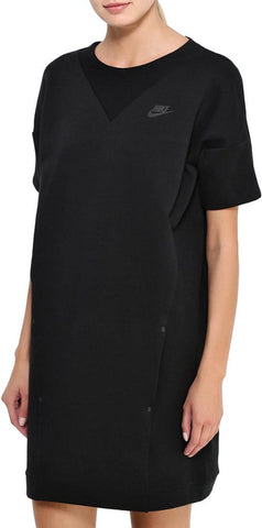 Nike Women's Sport Casual Tech Fleece Knit Dress-Black