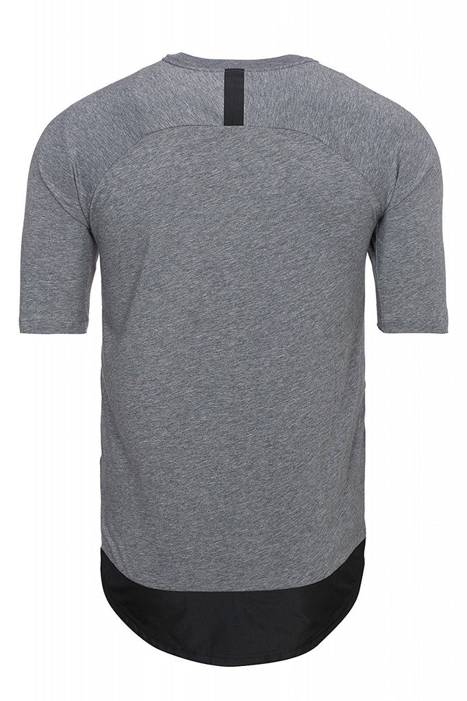 Nike Men's Bonded Knit Sport Casual Top-Gray