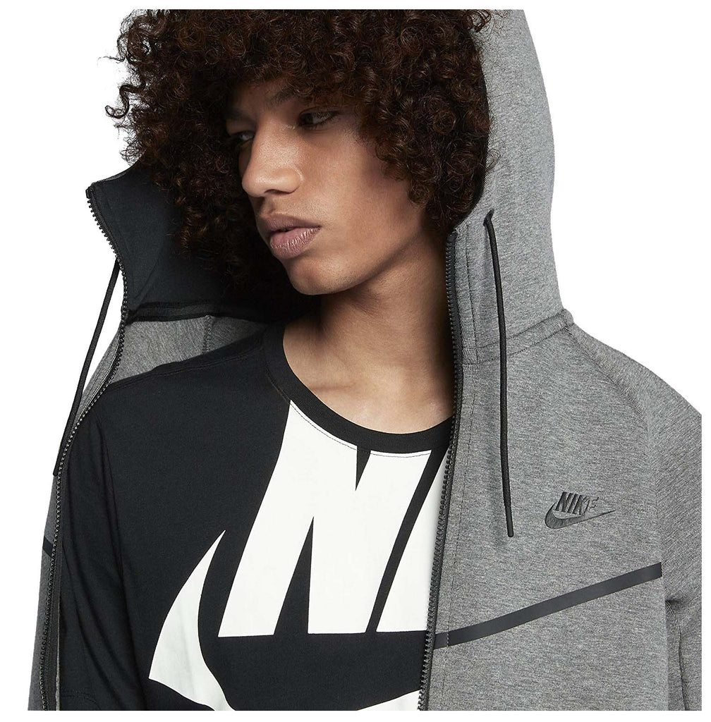 Nike Men's Sportswear Tech Fleece Windrunner Hoodie-Carbon Heather/Black