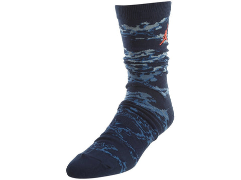 Jordan Nike Cloud Camo Jumpman Socks-Blue