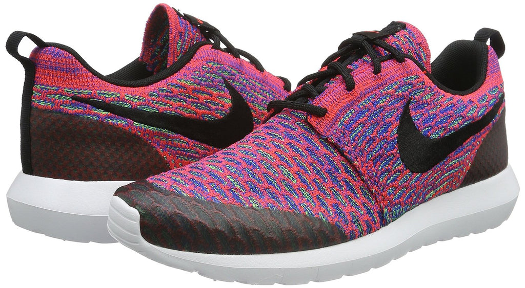 Nike Men's Roshe NM Flyknit SE Running Shoe-Bright Crimson/Blk/Green Strike